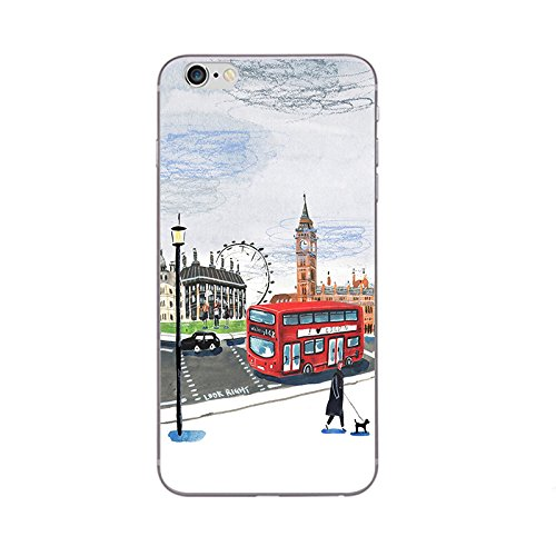 iPhone 7 Handyhülle Schutzhülle Hülle Silikon Cover Case 4.7 Ultra Slim Ultradünn Etui aus TPU transparent London