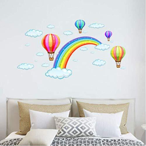 Fee Bunten Regenbogen Heißluftballon Poster Wandaufkleber Dekoration Pvc-druck Malerei Kunst Tapete Decor 50 * 30 (Regenbogen-hochzeit Kleid)