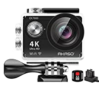 AKASO EK7000 4K Action Camera Ultra HD WiFi Sports Waterproof Underwater Camera Video Recorder with 170 Degree Wide Angle and Accessories Kit