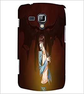 PrintDhaba Girl image D-4434 Back Case Cover for SAMSUNG GALAXY S DUOS S7562 (Multi-Coloured)