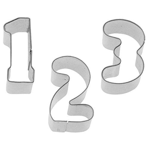 Westmark Spar-Set 2x: 35382280 Zahlen-Ausstechformen 0-9 Edelstahl, 2,5 cm