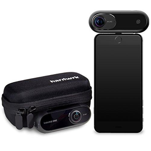 hardwrk Insta360 One Edition mit passgenauer Schutzhülle - 360 Grad Action-Kamera für iPhone - Ultra-HD 4k - Apple MFi Zertifiziert