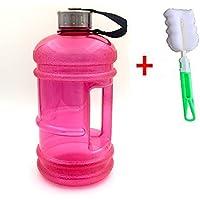 Botella de agua 2.2l deportes 7.2oz de boca estrecha cepillo de gran capacidad con