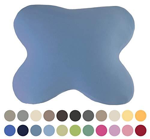 EddaLux Housse de Coussin pour Coussin Acamar Coussin de positionnement latéral pour Coussin de Papillon avec Fermeture Éclair 100% Coton, Bleu Jeans, 54 x 48 cm