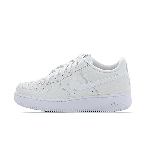 Nike Jungen Air Force 1 LV8 (GS) Basketballschuhe, Weiß (White/White), 40 EU (Kinder Nike Force Air 1)