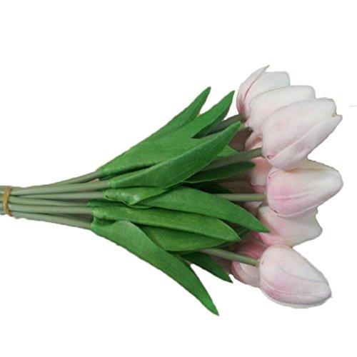 VJGOAL Damen Mädchen 10PC Tulpe Künstlich Gefälschte Blume Hauptdekoration Frau Geschenk Muttertag