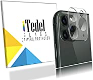 iTedel 9H 3D Camera Lens Protector for iPhone 11 Pro/iPhone 11 Pro Max with Anti-Refractive Black Apron, HD Cl