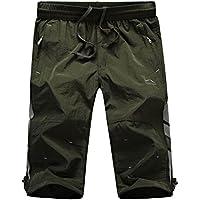 Echinodon Junge 3/4 Hose Dünn/Leicht/Atmmungsaktiv/Schnelltrockend Shorts Sport und Freizeit Sommer Kurze Hose