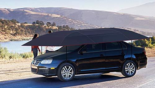 Invezo Impression Car Umbrella/Car Cover/Car Shed - 4 Meter (Sun roof Canopy Cover) (Black)