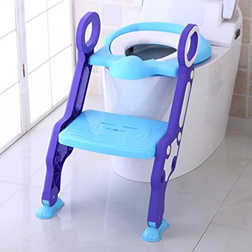 Babytopf, Sitz mit Leiter Kinder WC Sitzbezug Kinder WC Klappsäugling Töpfchen Training,Blue