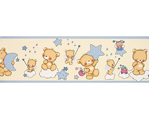 Dandino Bordüre Kinder Bären und Sterne, beige