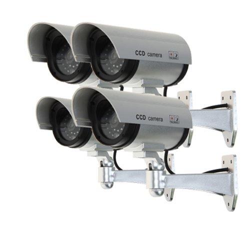 floureon-set-di-4-videocamere-di-sorveglianza-finte-con-led-rosso-da-esterno-colore-argentoo