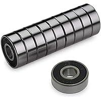 Z-FIRST Precision 608 RS ABEC 11 - Rodamientos para patinetes, Longboard y monopatín (10 Unidades), Color Negro