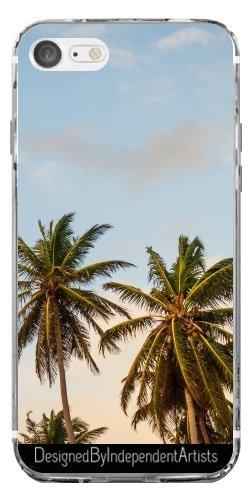 TPU Transparent SilikonHülle für Iphone 7 / Iphone 8 - Tropischen Palmen Sonnenschein by Petra