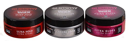 Fonex Styling Pack NEW : Gummy Styling Wax Ultra Hold, Casual Look & Extra Gloss (je150 - Männer Wachs Pommade