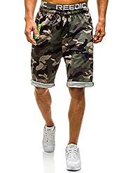 BOLF – Short – Pantalons courts de sport – Jogging – Armée – Camo – Motif – Homme [7G7]