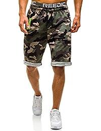 BOLF Herren Sporthose Kurzhose Shorts Militär Print 7G7 Motiv