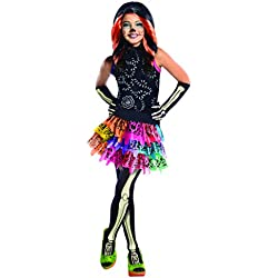 Monster High - Disfraz de Skelita Calaveras para niña, infantil 8-10 años (Rubie's 886700-L)