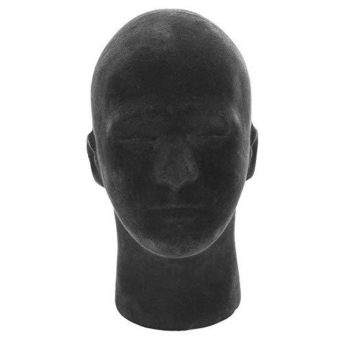 Schaufensterpuppe Kopf, Männliche Puppe Styropor Schaum Kopf Modell Schaufensterpuppe Kopf Mit Stoffoberfläche Für Headset Brille Hut Haar Perücke Display Ständer (Menschliches Haar Köpfe Puppe)