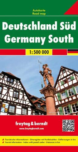 Alemania sur, mapa de carreteras. Escala 1:500.000. Freytag & Berndt.: Wegenkaart 1:500 000 (Auto karte)