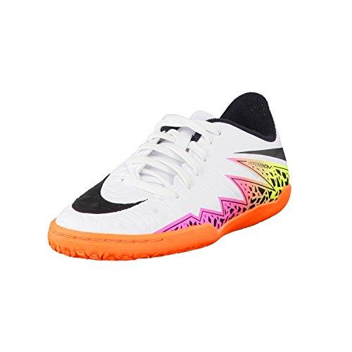 Nike Hypervenom Phade II, Scarpe Sportive Indoor Unisex – Bambini Blanco (White / Black-Total Orange-Volt)