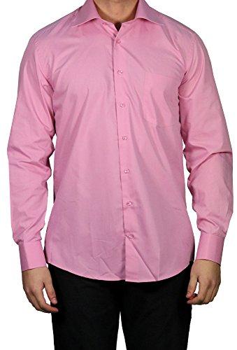 Muga -  camicia classiche  - basic - classico  - maniche lunghe  - uomo rosa antico xxxx-large
