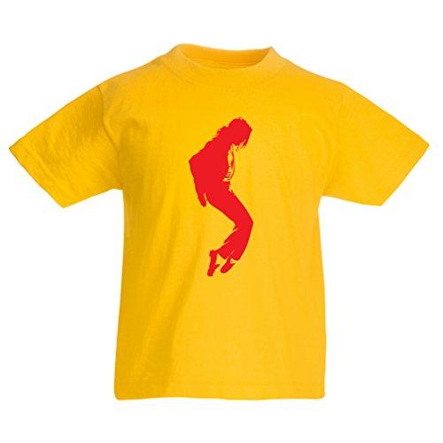 Kinder T-Shirt Ich Liebe MJ - Fanclub Kleidung, Konzert Kleidung (9-11 Years Gelb ()