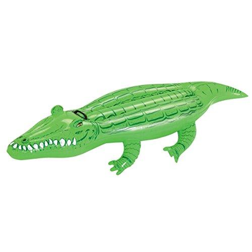 VARILANDO® Pool-Spielzeug in 4 bunten Varianten Flamingo Krokodil Pool-Zubehör Aufblas-Tiere (Krokodil)
