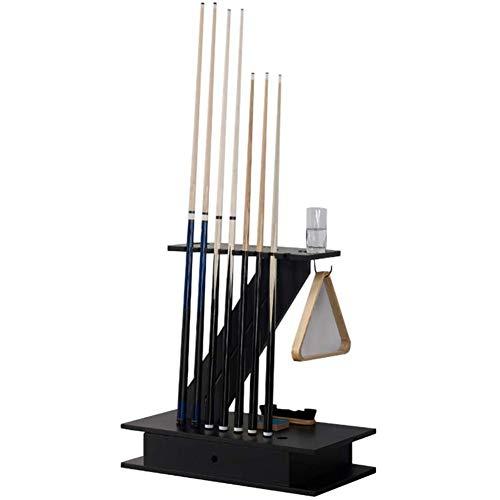 Gj Billard Stick Ständer,Billiard Supplies Display-Racks,Mit Haken- Und Schubladendesign,Einfach Zu Montierendes Billardzubehör/Schwarz / 80x40x77cm