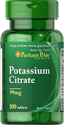 Puritan's Pride Potassium Citrate 258,6 Mg 100 Tabletten 7620 by Puritans Pride