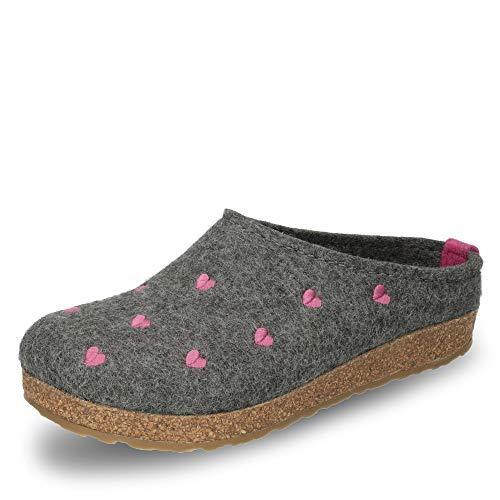 Haflinger Couriccini Grizzly, Unisex-Erwachsene Pantoffeln, Grau (Anthrazit 04), 38 EU