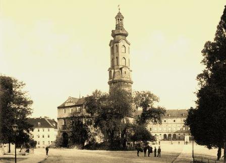 Weimar - 5 historische Fotografien um 1900 (Reproduktionen) - Schloss / Goethes Gartenhaus / Liszt...