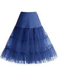 Bbonlinedress Jupon Femme Style année 50 Jupon Rockabilly 4 Tailles à Choisir