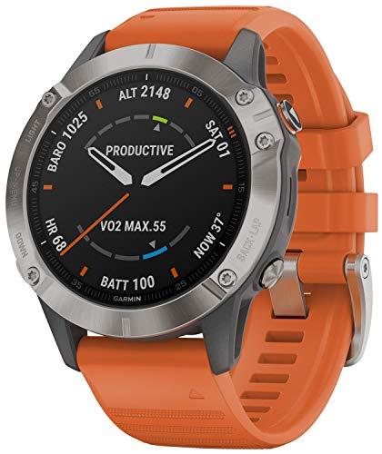 Garmin Fenix 6 Saphir Smartwatch mit Titanlünette 010-02158-14
