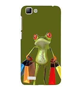 Busy Frog 3D Hard Polycarbonate Designer Back Case Cover for vivo V1 Max