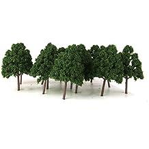 25 Oscuro arboles Modelo Verde Wargame Disposicion Del Tren Escala N Paisaje Diorama 1: 150