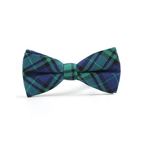 not applicable Plaid Cotton Bowtie bei T-Freund-Krawatte Adjustable Tuxedo Fliege für Partei-verursachende Baumwolle Bowties, H 105 -