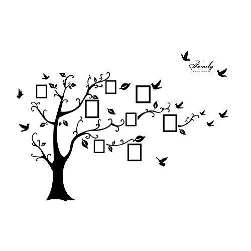Cosanter 3D Aufkleber auf der Wand Schwarzer Kunst Foto Bilderrahmen Speicher Baum Wandsticker Ausgangsdekoration Familien Baum Wand Aufkleber (Familie Baum-wand-aufkleber)