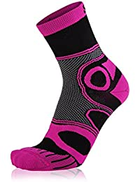 EIGHT SOX - Calcetines de ciclismo multicolor negro y rosa Talla:Talla 4 (45-47)