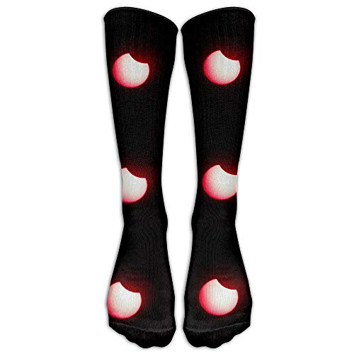 Xdevrbk Red Eclipse Melbourne Beach SportAthletic SockNovelty Calf High Running Long Sock Unisex