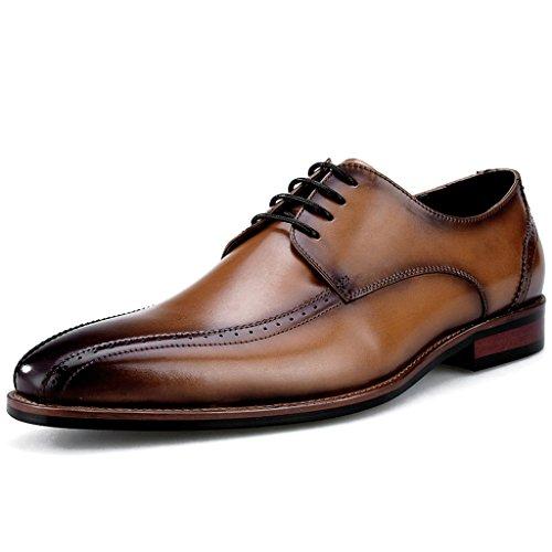Scarpe Uomo in Pelle Scarpe da uomo in pelle formale da indossare in stile classico stile britannico testa quadrata ( Colore : Marrone , dimensioni : EU40/UK6.5 ) Marrone