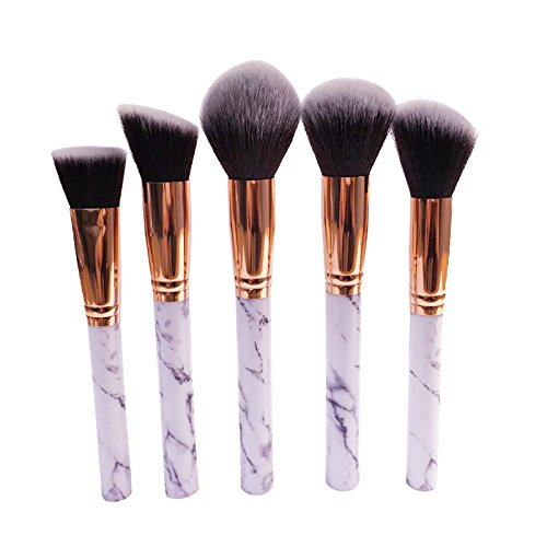 Robinson Fency Makeup Brushes Set Professional Synthetic Make-up Brush Kit Marble Handle Design Eyeliner Eyeshadow Foundation Blush Powder Liuqids Cosmetics Tool With Opp Bags