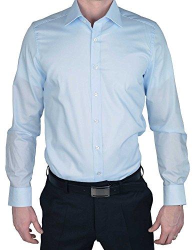 MARVELIS Body Fit Hemd extra langer Arm hellblau AL 69, Gr. 40, Blau