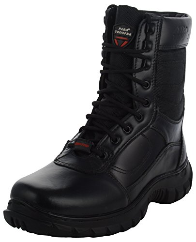 PARA TROOPER Men's Black Leather Combat Boots_9 UK