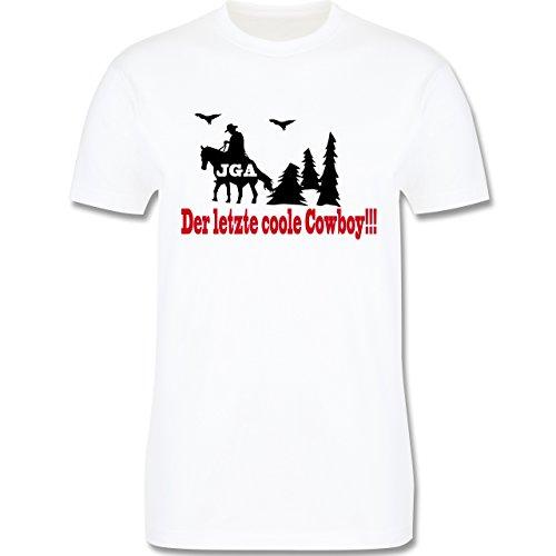 JGA Junggesellenabschied - Der letzte coole Cowboy - Herren Premium T-Shirt Weiß