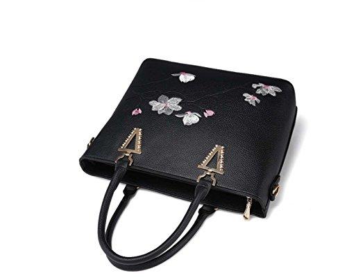 La borsa multifunzionale della borsa della spalla della borsa della donna ha ricamato la grande capacità per le donne Wine Red