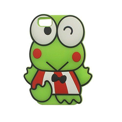 iPhone 6Fall, Anya 3D Cute Lovely Cartoon Tier Weich Gummi Silikon Back Shell Schutzhülle für iPhone 66S Polka Dot Schnalle Boy Maus, Frog Green