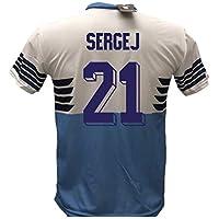Maglia Calcio Lazio Sergej Milinkovic-Savic 21 Replica Autorizzata 2018-2019 Bambino (Taglie 6 8 10 12) Adulto (S M L XL) - Sergej Milinković-Savić (10 Anni)