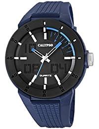 Calypso Watches K5629_3 - Reloj Multiesfera Para Hombre, color LCD/Azul