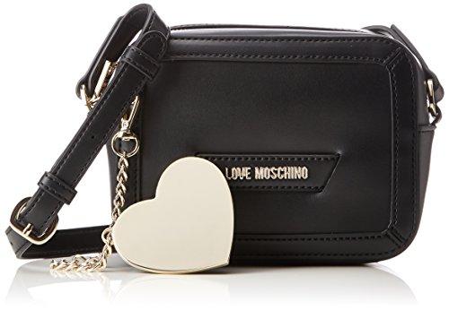 41yKeGW72qL - Love Moschino Damen Borsa Calf Pu Nero Baguette, schwarz (Black), 8 x 13 x 18 cm
